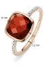 Diamond Point Roségouden ring, 5.38 ct rhodoliet, Colors