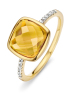 Diamond Point Geelgouden ring 3.30 ct citrien Colors