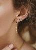 Diamond Point Joy earrings in 14 karat white gold
