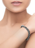 Diamond Point Zilveren jasseron armband (XS)