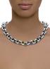 Diamond Point Zilveren jasseron collier (M)