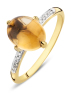 Diamond Point Geelgouden ring 2.40 ct citrien Little Drops