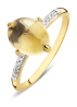 Diamond Point Geelgouden ring 2.70 ct gele kwarts Little Drops