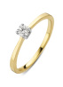 Diamond Point Gouden ring 0.15 ct diamant Starlight