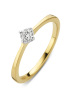 Diamond Point Starlight ring in 14 karat yellow and whitegold