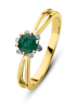 Diamond Point Empress ring in 14 karat yellow gold