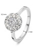 Diamond Point Hearts & arrows ring in 18 karat white gold