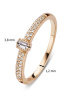 Diamond Point Solitair ring in 18 karat rose gold