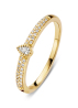 Diamond Point Geelgouden ring, 0.15 ct diamant, Solitair