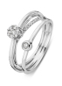 Diamond Point Caviar ring in 18 karat white gold