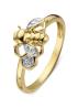 Diamond Point Ring in 14K Gelbgold mit Weißes Rhodium