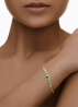 Diamond Point Geelgouden armband, 0.72 ct smaragd, Colors