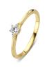Diamond Point Starlight ring in 14 karat yellow gold with white rhodium