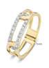 Diamond Point Gouden ring, 0.18 ct diamant, Alliance