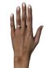 Diamond Point Solitair Ring in 18K Weißgold