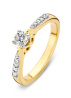 Diamond Point Geelgouden ring 0.25 ct diamant Hearts & Arrows