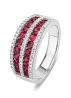 Diamond Point Colors ring in 18 karat white gold