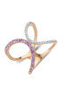 Diamond Point Roségouden ring, 0.27 ct paarse amethist, Like a star