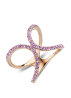 Diamond Point Roségouden ring 0.54 ct paarse amethist Like a star