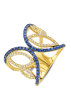Diamond Point Geelgouden ring 0.52 ct blauwe saffier Like a star