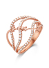 Diamond Point Lavender ring in 14 karat rose gold