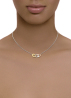 Diamond Point Timeless treasures necklace in 14 karat white, yellow and rose gold