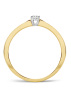 Diamond Point Gouden ring, 0.10 ct diamant, Starlight