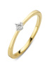 Diamond Point Gouden ring, 0.05 ct diamant, Starlight