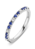 Diamond Point Witgouden ring 0.22 ct blauwe saffier Ensemble