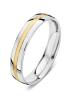 Diamond Point Wedding ring in 18 karaat bicolor