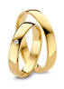 Diamond Point Wedding ring in 18 karat yellow gold