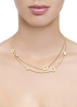 Diamond Point Geelgouden collier Melody