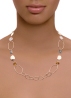 Diamond Point Marigold necklace in 18 karat rose gold