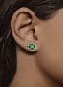 Diamond Point Colors earrings in 14 karat white gold
