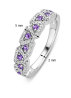 Diamond Point Colors ring in 14 karat white gold