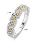 Diamond Point Witgouden ring, 0.22 ct citrien, Colors