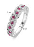 Diamond Point Witgouden ring 0.21 ct roze toermalijn Colors