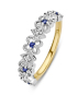 Diamond Point Since 1904 ring in 14 karat yellow and whitegold