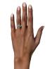 Diamond Point Little drops ring in 14 karat white gold