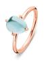 Diamond Point Roségouden ring, 2.60 ct topaas, Little Drops