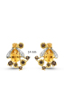 Diamond Point Queen bee earrings in 14 karat yellow gold