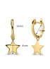 Diamond Point Dreamer earrings in 14 karat yellow gold