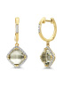 Diamond Point Geelgouden oorsieraden 3.26 ct groene amethist Fiësta