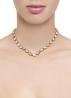 Diamond Point Melody necklace in 14 karat rose gold