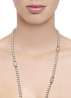 Diamond Point Roségouden collier 36.00 ct roze kwarts Rivièra