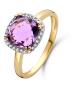 Diamond Point Geelgouden ring 2.54 ct amethist Fiësta
