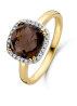 Diamond Point Geelgouden ring 2.55 ct rookkwarts Fiësta