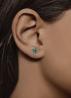 Diamond Point Witgouden oorsieraden 0.09 ct smaragd Cosmic