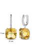 Diamond Point Witgouden oorsieraden, 6.18 ct citrien, Colors