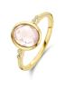 Diamond Point Geelgouden ring, 1.78 ct roze kwarts, Philosophy